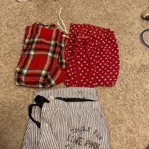 Pajama set lot MEDIUM. (Lot of 3)